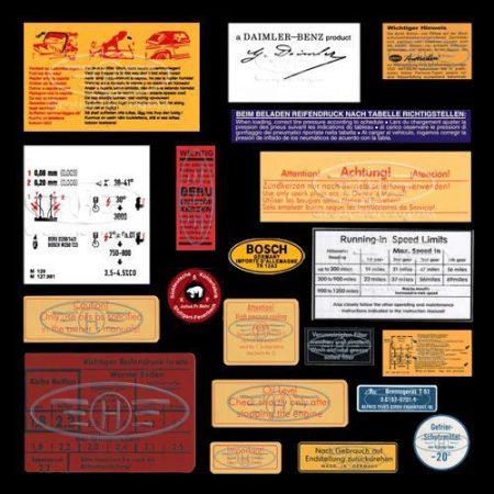 Mercedes Pagoda W113 Restoration Decals Sticker Set