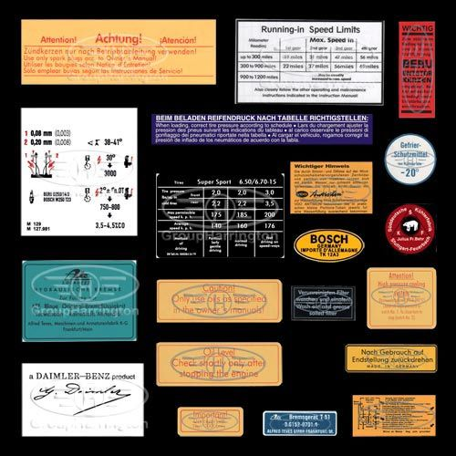 Mercedes benz 190sl decals sticker set group harrington for A mercedes benz product sticker